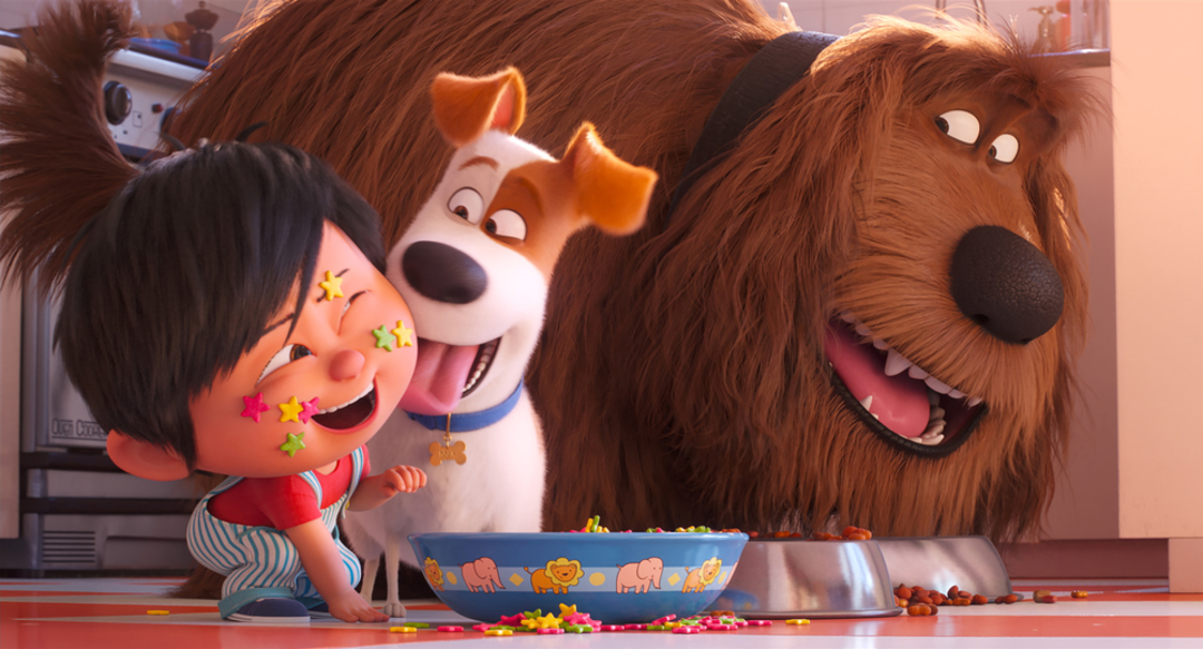 (from left) Liam, Max (Patton Oswalt) and Duke (Eric Stonestreet) in Illumination's The Secret Life of Pets 2, directed by Chris Renaud. - © UNIVERSAL STUDIOS